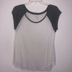 GAP White and Gray Baseball Style Top
